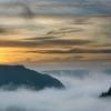 Reichsburg Cochem im Nebel